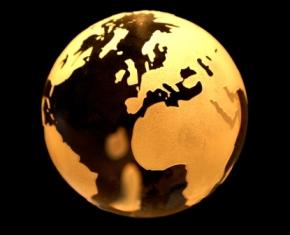 Erde als Glaskugel