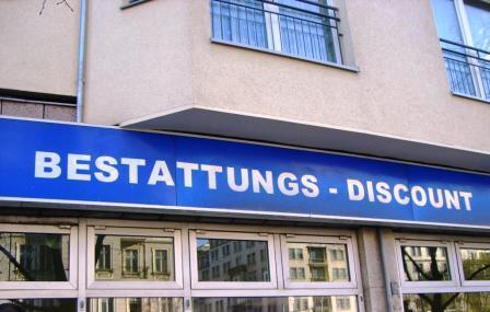 Bestattungsinstitut mit Discount