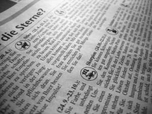 Horoskope in einer Zeitung
