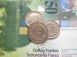Fünfzig Franken und ein wenig Münz