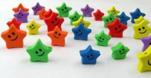 Gruppe von lächelnden Sternen