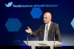 Inauguration du Nestle Institute of Health Sciences (NIHS) sur le campus de l'EPFL, vendredi 2 novembre 2012