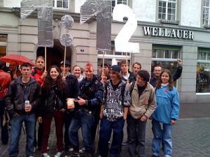 Demo der Jusos St. Gallen für die 1:12-Initiative am 01. Mai 2010