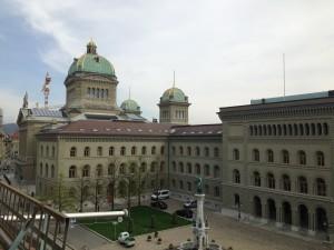 Bundesratshaus und Bundeshaus in bern