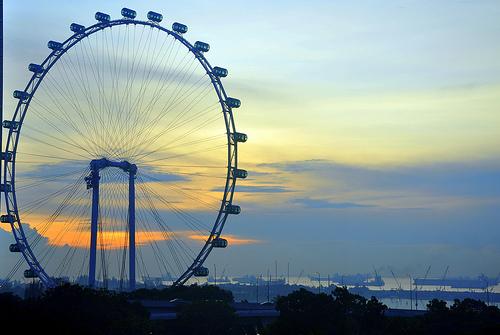 Singepore Flyer (Riesenrad) in Singapur
