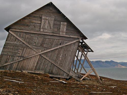 verlassenes Haus in Spitzbergen
