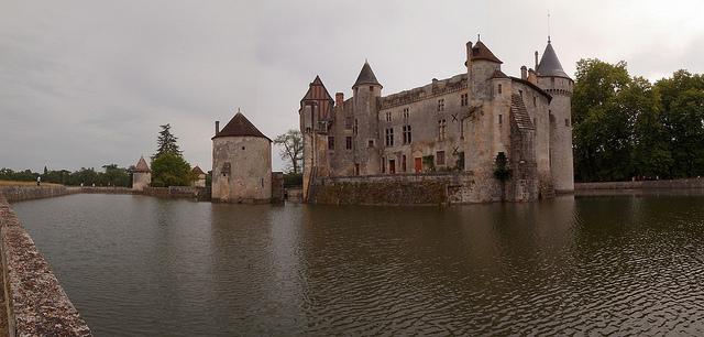 Ansicht des Château de la Brède, Gironde, Frankreich