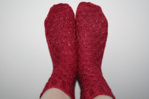 Raspberry socks red socks by fenwench