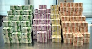 Euro-Papiergeld-Bündel