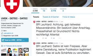 Die Tweets von UVEK / Bundesrätin Doris Leuthard