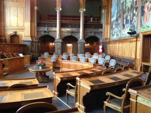 Ständeratssaal im Bundeshaus in Bern