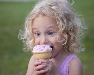 Kinder und Glacé