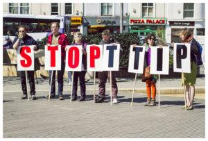 Demo gegen TTIP in Bristol