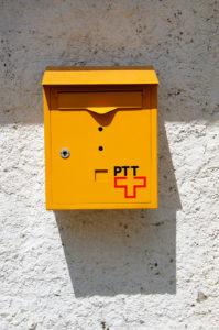 Briefkasten der Schweizerischen Post