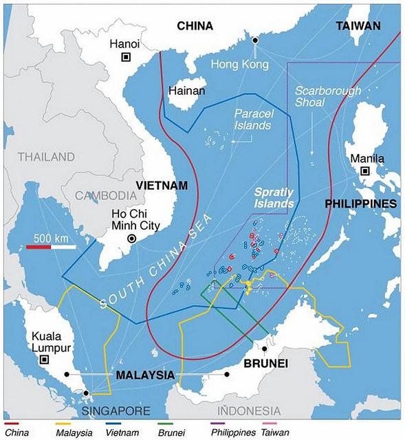 Map South-China-Sea