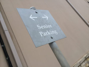 Old people everywhere - Senior Parking