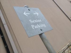 Old people everywhere - Senior Parking