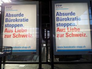 FDP Plakat gegen Bürokratie