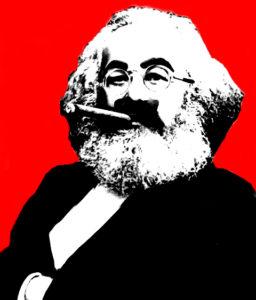 Karl Marx mit Zigarre
